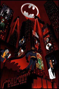 'BTAS' Poster - Chris Thornley Batman Drawing, Batman Artwork, Batman Comic Art, Batman Wallpaper, Good Knight, Dark Knight, Superhero Cartoon, Comic Conventions, Batman The Animated Series