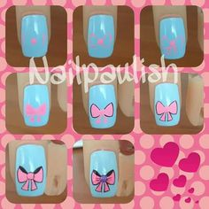 Uñas Daisy Nail Art, Daisy Nails, Purple Nail Designs, Best Nail Art Designs, Beige Nails, Purple Nails, Nail Art For Kids, Cool Nail Art, Diy Kawaii Nails