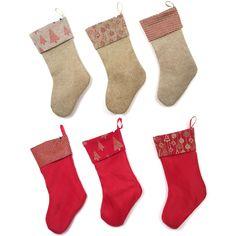 Burlap Glitter Stocking - Christmas Elves