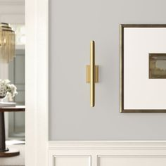 Directing light where focus matters most our Redford Sconce is striking yet simple. Built from steel in a plated finish, this well-defined piece will add a classic modern styling to an entry way, living room, dining room or foyer. Hallway Wall Lights, Hallway Sconces, Gold Wall Lights, Sconces Living Room, Hallway Walls, Bathroom Wall Sconces, Foyer, Family Room Walls, Dining Room Walls