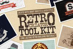 Retro Creator Tool Kit Wood Edition by Creativenauts on @creativemarket