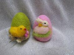 IMG_4691 (Katya's home) Tags: holiday rabbit green bird wool felted easter children felting egg waldorf decoration chick ornament present needlefelting handcraft needlecraft naturetable