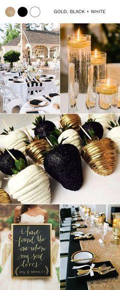 gold black and white wedding colors for 2018 #wedding #weddingideas #weddingcolors