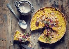 """Try celebrated SA chef Jan Hendrik van der Westhuizen's Roasted Butternut and Almond Quiche from his latest book """"Jan – A Breath of French Air"""" Roasted Butternut, Caramelized Onions, High Tea, Quiche, Whole Food Recipes, Spinach, Almond, Clean Eating, Paleo"""