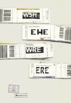 Ogilvy Group UK used the 3-letter abbreviation luggage tags from over 900 airports for their Expedia ad campaign.