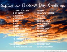September Photo a day challenge