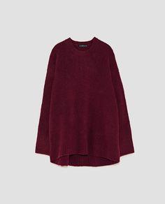 Zara Tops, Jersey Oversize, Aw17, Pulls, Ideias Fashion, Knitwear, Midi Skirt, High Waisted Skirt, Bell Sleeve Top