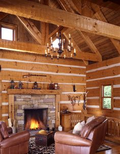Lake Haven Log Home Plan by Hearthstone Homes Log Home Plans, New House Plans, Cabin Plans, Log Home Living, Living Room, Log Home Designs, Home Design Magazines, Log Home Decorating, Trendy Home