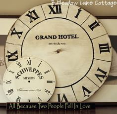 DIY Faux Clock Face | Meadow Lake RoadMeadow Lake Road