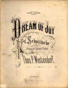 Sheet Music - Dream of joy schottische