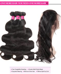 360 Lace Frontal Closure With and 2 or 3  Bundles 100% Virgin Indian Hair Body Wave Hair Bundles Sew In In With Frontal #360frontal #hairbundles