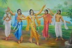 The simple yoga process for this age- chanting, dancing and feasting. Krishna Art, Radhe Krishna, Lord Krishna, Opera Software, Bhakti Yoga, Meditation Benefits, Krishna Pictures, Bhagavad Gita, God Pictures