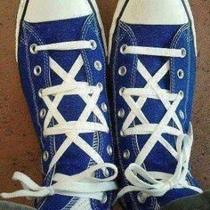 Star of David shoe laces. Love it!