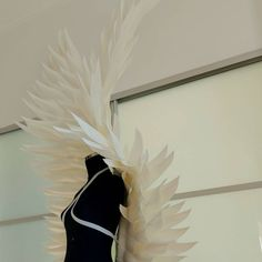 """#angelwingscostume #whiteangel #cosplaywings"""