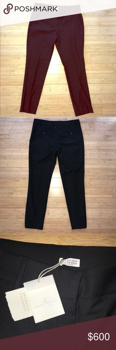 Brunello Cucinelli Black Dress Pants Size 12 NWT! Brunello Cucinelli Dress Pants Color: Black Size: US 12 IT 48 Brand New with Tags! Original Price: $855 Brunello Cucinelli Pants Trousers