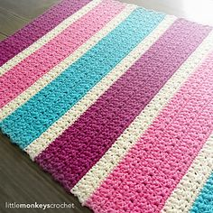 Perfect for a nursery or bathroom, crochet this cheerful accent rug with Lion Brand's Kitchen Cotton yarn.