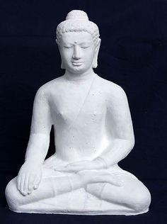 Buddha Figur - Steinguss Deko für Wohnung und Garten
