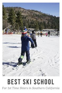 Mt High is the best resort for skiing near Los Angeles and San Diego. Ski lessons, easy green slopes and family fun for the winter. #socal #skiing