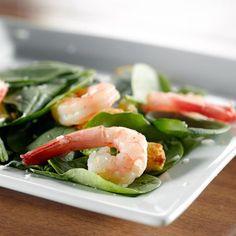 Une entrée savoureuse pour inaugurer l'été. Salad Recipes, Diet Recipes, Gerd Diet, Acid Reflux Recipes, Spinach Salad, Diet Tips, Green Beans, Seafood, Vegetables