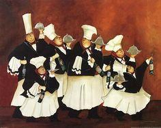 Chef & Wine II Posters por Jennifer Garant en AllPosters.com.mx - Buscar con Google