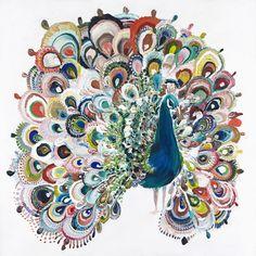 Peacock White by Starla Michelle