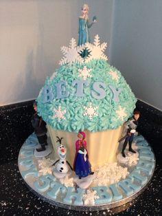 Frozen giant cupcake!