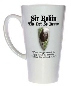 Sir Robin - Monty Python and the Holy Grail Coffee or Tea Mug, Latte Size