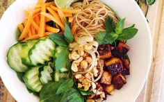 <p>The combination of flavors in this bun cha will have your taste buds dancing!</p>