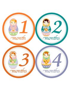 Matryoshka Baby Stickers for Baby Girls... Photo Prop...Baby Shower Gift...Stickers for Creeper, Bodysuit, Baby Tee, One Piece, Babysuits on Etsy, $9.00