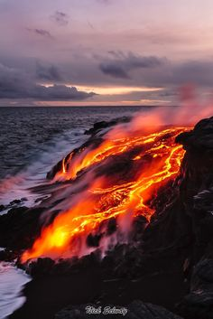 Peles_Path | I took this on March 7, 2008 this is the most beautiful lava  ocean entry I have ever seen in 12 year of shooting. Photography by Nick Selway
