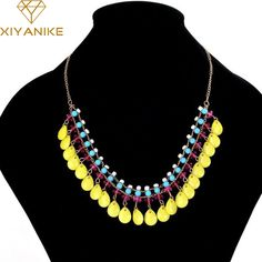 Newest !!! Hot Summer Bohemian Beads Small Fresh Water Droplets Fluorescent Color Necklace Statement Necklace N706. Yesterday's price: US $3.20 (2.63 EUR). Today's price: US $1.28 (1.05 EUR). Discount: 60%.