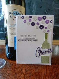 Wine, buttons, cheers *I love this card