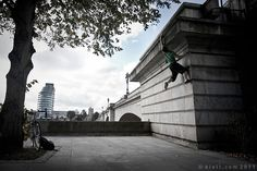 Seize The Moment, Parkour Photographs by Andy Day - Smashcave Parkour, Putney Bridge, Climbers, Rock Climbing, My Images, Amazing Photography, Around The Worlds, In This Moment, London