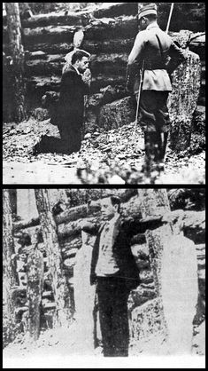 """Blessed Miguel Pro's last hour. His last words were, """"Viva Cristo Rey!"""" or """"Long Live Christ the King!"""""""