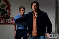 """Party On, Garth"" - (l-r): Andrew Francis as Lee, Jared Padalecki as Sam in SUPERNATURAL on The CW.  Photo: Jack Rowand/The CW©2012 The CW Network, LLC. All Rights Reserved."