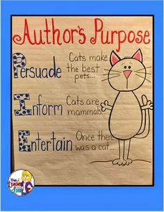 Lots of tips to teach author's purpose. This tip describes how to do three purposes with one topic.