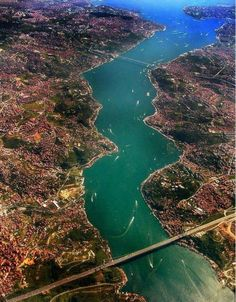 Bosphorus - also referred to as the Istanbul Strait, is a strait that forms part of the boundary between Europe and Asia.