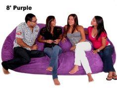 Amazon.com: 8-feet Xx-large Purple Cozy Sac Foof Bean Bag Chair: Home & Kitchen