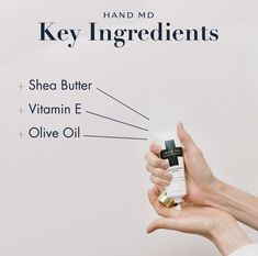 Put moisture back in your hands with these natural ingredients! Key Ingredient, Hand Cream, Vitamin E, Shea Butter, Moisturizer, Skincare, Hands, Natural, Moisturiser
