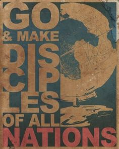 The Great Commission says make disciples of all nations. Have we even made them in our own nation? Come on Christians;  Missions exist because worship doesn't: people don't worship the God that made them. We're Ambassadors. letsgo. -Lecrae, Send Me