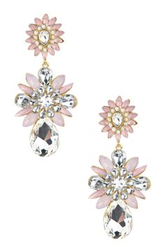 Floral Statement Drop Earrings