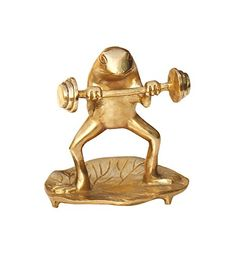"""SouvNear Sweet #Frog #Statues and #Figurines Doing a Power Work Out on a Leaf - Crazy Frog Gifts #Decor #Accessories - 5"""" #Metal #Arts and #Crafts Collectibles #Sculpture for Home, Patio, Lawn & Garden Decoration SouvNear http://www.amazon.com/dp/B00PLR0D5E/ref=cm_sw_r_pi_dp_AIrdwb0F0E6QJ"""
