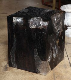 Teak & Resin Cube Table from VW Home.
