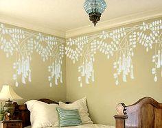 STENCIL for Walls  Black Locust Flowers by OliveLeafStencils, $44.95