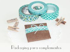 Little Hannah: Un packaging para un colgante con cartulina kraft y washi tape