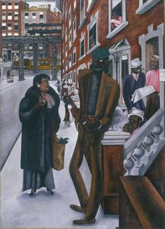 untitled picture by Edward John Burra English artist best known for his depictions of the urban underworld, black culture and the Harlem scene of the (studyblue - wiki) Harlem Renaissance, Renaissance Artists, Black Panthers, Romare Bearden, African American Culture, Art Deco, Black Artwork, Black Artists, Beautiful Artwork