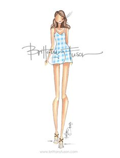 Blue Gingham by Brittany Fuson