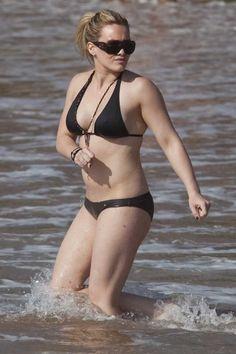 Hilary Duff on the beach in Hawaii