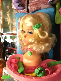 """We played """"Barbie heads"""" all the time back in the day. 1980s Barbie, Barbie I, Vintage Barbie Dolls, Barbie World, Vintage Toys 1970s, 1970s Toys, My Childhood Memories, Childhood Toys, Sweet Memories"""