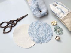 To celebrate the launch of our new season fabrics, we're showing everyone how to create their own DIY lavender sachets. Diy Lavender Bags, Lavender Crafts, Lavender Sachets, Lavender Scent, Embroidery Scissors, Fabric Scissors, Ashley Store, Shabby Chic Pillows, Scented Sachets
